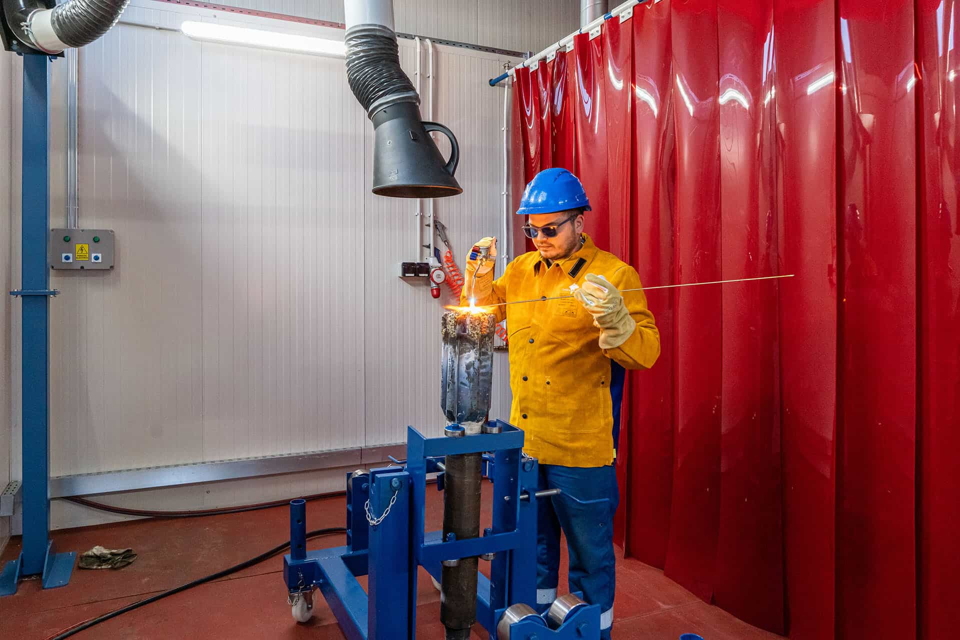 Our new welding facilities for Redressing and Repair
